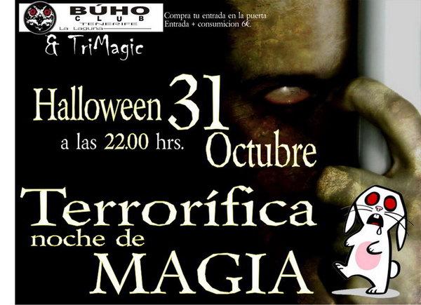 cartel magia trimagic tenerifde buhoclub halloween